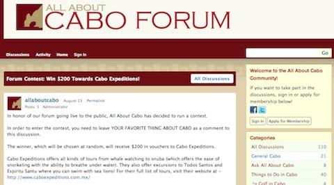 Cabo Forum Contest