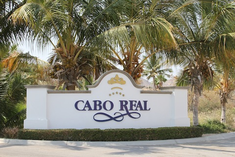 Entrance Sign to Cabo Real