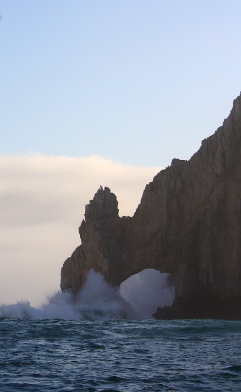 The Cabo San Lucas Arch - El Arco - is a landmark in Los Cabos Mexico