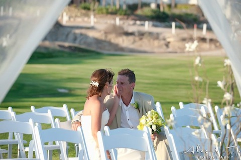 A couple at their Cabo San Lucas Wedding
