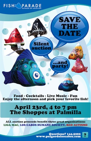 Fish Parade Los Cabos Silent Auction Event Flyer