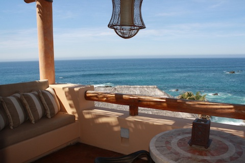 View from the balcony of the Esperanza Resort in Cabo.