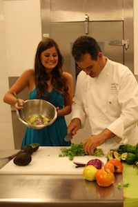 Chef Larbi Dahrouch shows me how to make Guacamole