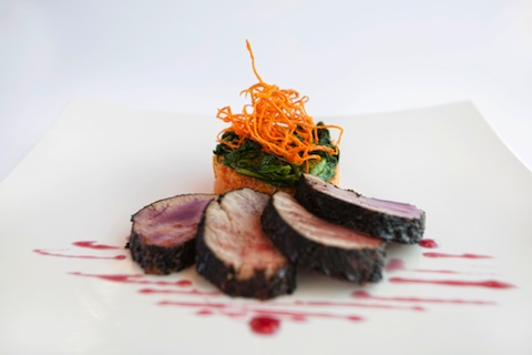 Coffee and Cocoa Crusted Pork Filet - Manuel's Creative Cuisine - made by Chef Manuel Arredondo