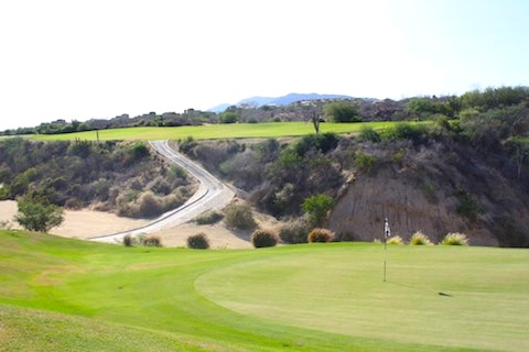 Mountain #5 at the Palmilla Golf Course in Cabo San Lucas Mexico is one of their signature holes