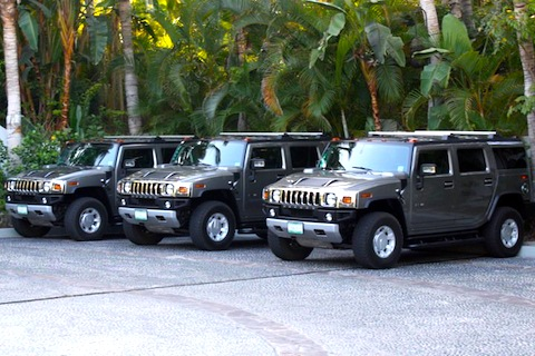 One&Only Palmilla Branded hummers