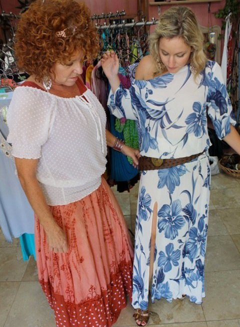 Pepita Nelson can customize clothing for you in her Cabo Boutique