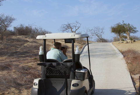 Larry Steinberger photographing Cabo courses