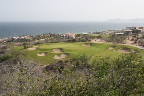 Hole six on Puerto Los Cabo Golf Course in Los Cabos Mexico