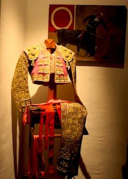 Pablo Velez's suit of lights bull fighting