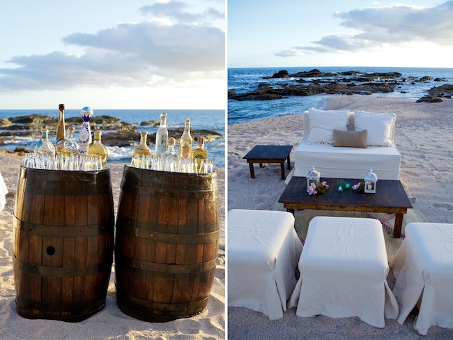 Tequila Tasting at a Wedding in Los Cabos
