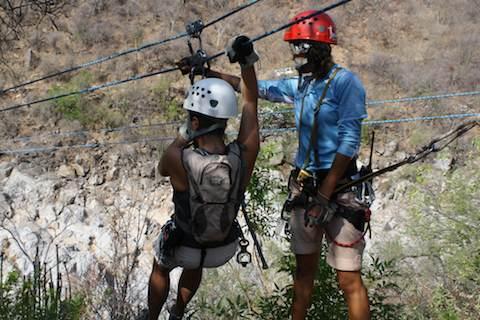 Ziplining in Los Cabos