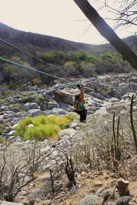 Ziplining in Cabo San Lucas Mexico.