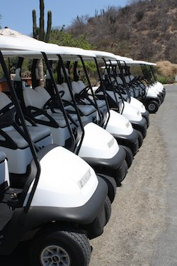 Golf Carts at Palmilla Golf course in Cabo
