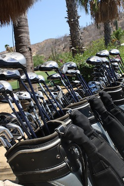 Golf Clubs at Palmilla Golf course in Cabo