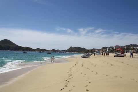 Medano Beach is a popular beach in Cabo